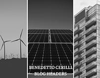 Benedetto Cerilli Blog Headers