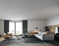 Interior visualization of a residential project.
