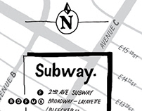 64 East Location Map