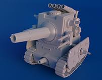 Mini Military Tank - 3D Model
