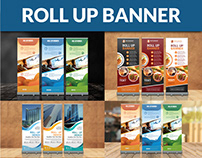Corporate, restaurant and Traveling Roll Up Banner
