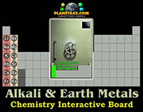 Alkali and Alkaline Earth metals interactive board
