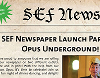 OPUS Newspaper Launch Party flyer