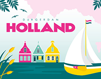 Amsterdam Postcards 02 | Vector illustration