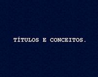 Títulos e conceitos.