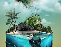 Sea Tank - CGI + Photo Manipulation