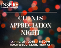 Inspire Clients Appreciation Night Event Poster