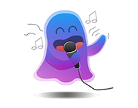 Purple Ghost - Line Sticker Competition
