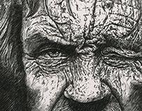 Ink portrait: Vagabond Pirate.
