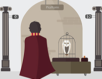 Flat design- Harry Potter