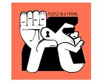 selfish people in a frame