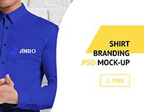 Free Shirt Logo Branding Identity PSD Mockup