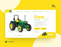 Jhon Deere Product page UI redesign concept.