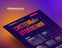 Landing page for Modernsys