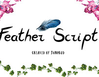 The FREE Feather Script Font