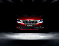 Skoda Rapid: CG and Retouch