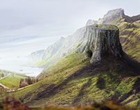 Matte Painting - Visitors