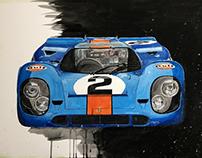 Gouache GULF Porsche 917