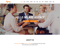 Agency - Landing page