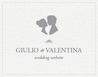 Giulio & Valentina Wedding Website