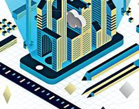 Application architect illustration