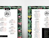 Menu Design - Luzia Bar