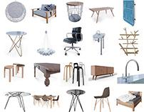 Interior furniture set for Blender / 20 models