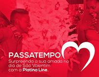 Cartaz Passatempo Platinaline ( Dia dos namorados )