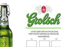 Diseño página web Concurso Hunting Art Grolsch Perú