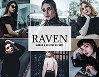 Free Raven Mobile & Desktop Lightroom Presets
