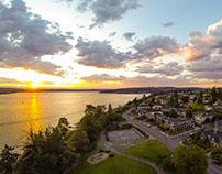 Aerial Sunset Kirkland, WA