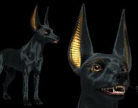 3d character Anubis