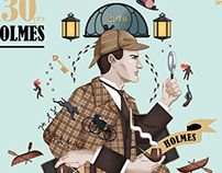 Book cover - Sherlock Holmes 130th anniversary edition