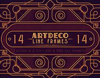 14 ArtDeco Line Frames