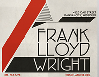 Frank Lloyd Wright Exhibition Poster