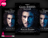 Game Of Thrones Night Party Flyer Psd