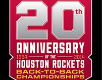 Houston Rockets 20th Anniversary Champions Badge