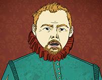 Simon Pegg Portrait