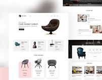 Furniture E commerce Webpage Design