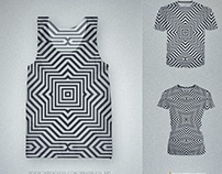 Minimal Geometrical Optical Illusion Pattern in Black &
