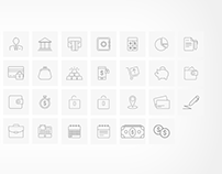 Thin Line Business Icons