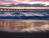 San Diego - Sunset At Ocean Beach Pier