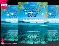Ocean Day Flyer + Social Media Post