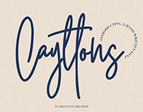 CAYTTONS SIGNATURE – FREE FONT