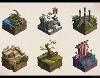 Isometric game asset concepts