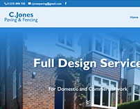 Cjones Paving and fencing website 2017
