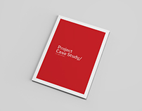 case study booklet indesign template on behance