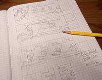 Sketches for mydlink Banner