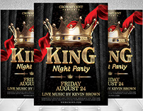 King Night Party Flyer Template