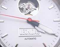 Logo design for swiss watch brand - LEONIDAS